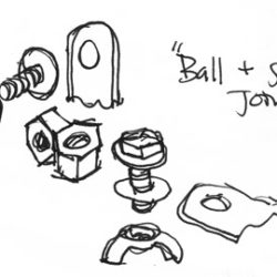 Early Sketch of Faux Ball-and-Joint Socket