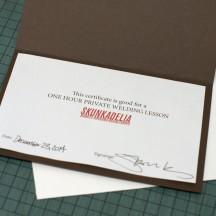 Gift Certificate Open